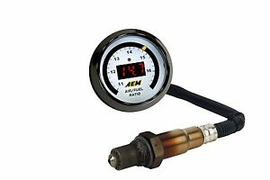 Aem Digital Wideband Guage O2 Uego Afr Kit Comes With New Bosch 4 9 Lsu Sensor