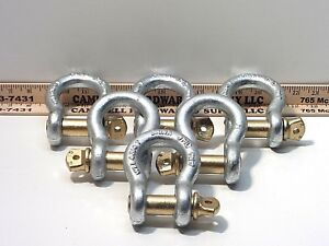 3 4 Screw Pin Anchor Shackle 4 3 4 Ton Clevis Bow Lifting Pulling Rigging 6ea