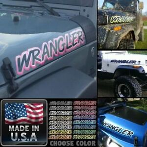 Hood Stickers Decals For Wrangler 2pc Set Yj Tj Jk Pick Color