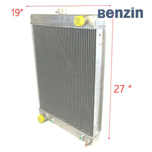 Universal Downflow 1930 1950 Ford Hot Rod Radiator 2 Row 27 X 19 X 3 G190a