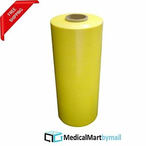 80 Ga 5 Rolls Yellow Stretch Wrap Packaging 20 X 5000 Machine Film
