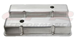 Unplated Stamped Aluminum Tall Valve Covers For Chevy Sb 283 305 327 350