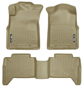 05 15 Toyota Tacoma Double Cab Tan Husky Weatherbeater 1st 2nd Row Floor Mats