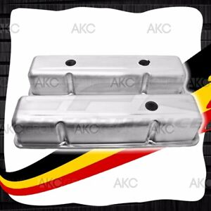 Unplated Stamped Aluminum Tall Valve Covers For Chevy Sb 283 305 327 350 400