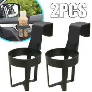 2pcs Black Cup Drink Bottle Holders For Car truck Interior Window Dash Mount