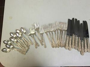Stieff Corsage Sterling Silver Service For 6 4 Piece Setting W Extras
