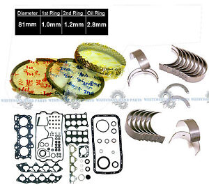 Acura Integra Gsr Type R 1 8 B18c1 B18c5 Engine Rebuild Re Ring Kit Metal