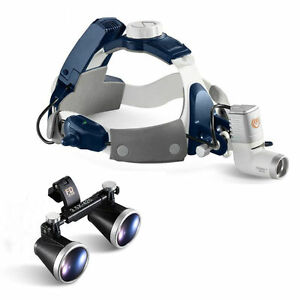 5w All in one Dental Led Head Light Medical Surgical Head Light With 3 5x Loupes