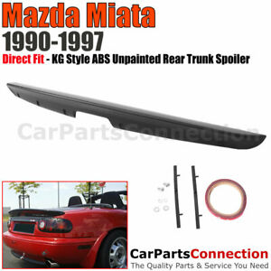 Miata Mx5rear Trunk Spoiler Mazda 90 97 Kg Style Abs Unpainted Rear Mount Mx 5