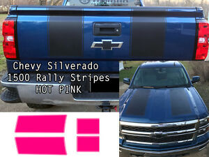 Pink Silverado 1500 2014 2015 1500 Rally Decals Stripe Kit Chevrolet Stickers
