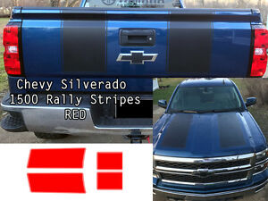Red Chevy Silverado 1500 2014 2015 1500 Rally Decals Stripe Chevrolet Stickers