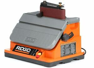 RIDGID Oscillating EdgeBelt Spindle Sander Lock On Switch Power Work Tools Home