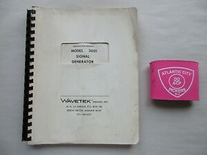 Wavetek Model 3001 Signal Generator Instruction Manual