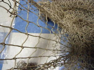 Authentic Used Fishing Net 10 X10 Fish Netting Nautical Decor