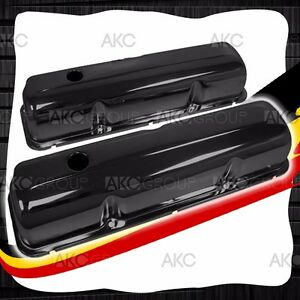 Black Steel Valve Covers For 57 76 Ford Big Block Fe 352 390 406 427 428