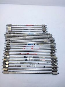Lot 22 300mm 250mm Hplc Columns Various Makes Id s Thermo Supelco Agilent