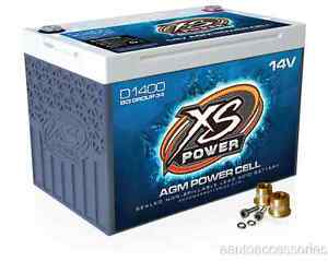 D1400 Xs Power Sealed Agm 14 Volt 2 400 Max Amp Lead Acid Battery W Hardware