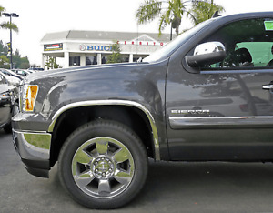 Tfp 3406 Polished Stainless Steel Fender Trim Molding For Gmc Sierra 1500