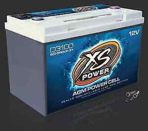 Xs Power D3100 12 Volt Bci Group 31 Agm Battery M6 Terminal Hardware Included