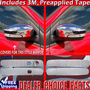 2013 2016 Ford Escape Chrome Door Handle Mirror Covers W Turn Sgnl W Smartkey