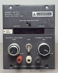Lambda Lg 411 Power Supply Regulated 0 20v 1 2amp