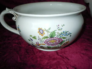 Old Vintage Chamber Pot Bridgewood Antique Porcelain Goode Co England Vintage