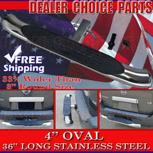 Hitch Step 4 Oval Stainless Steel Truck Suv 36 Bumper Guard Fits 2 Receivers