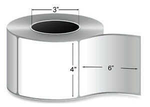4 X 6 Thermal Transfer Label 3 Core Ribbon Required 4 Rolls 1000 Labels roll