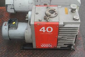 Edwards 40 E2m40 Rotary Vane Dual Stage Mechanical Vacuum Pump
