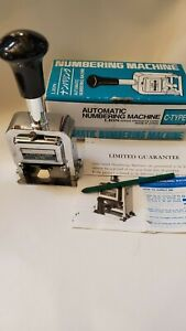 Automatic Numbering Machine C 75 6 Wheels Made In Japan