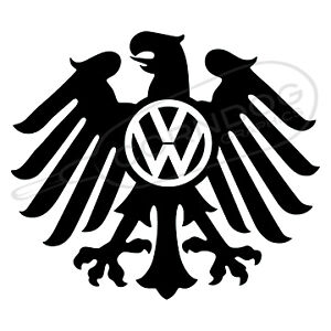 Eagle Vw Logo Black Vinyl Sticker Decal Vw Volkswagen Gti Jetta Beetle Bug Bus