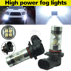 2x9005 Hb3 9055 White 6000k Led Bulbs Replacement For Fog Driving Light Cree