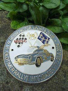 German Badge Wiesbaden Hesse Motor Sports Club Mercedes Benz 300 Sl Gull Wing