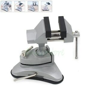 Alloy Aluminium Universal 360 Adjustable Table Vise Suction Clamp Bench Vice