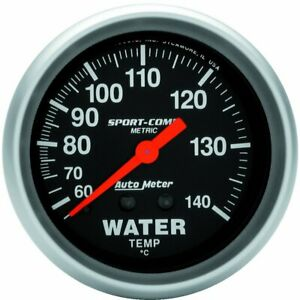 Autometer Water Temperature Gauge New 3431 M