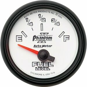 Autometer Fuel Gauge Gas New 7516