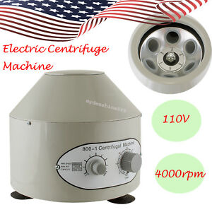 Usa Only Electric Lab Centrifuge Machine Lab Separation Practice Capacity 20mlx6