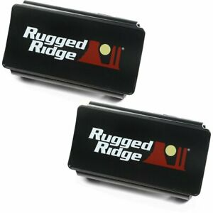 Rugged Ridge Set Of 2 Offroad Light Covers New Pair 15210 47