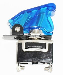 1 Spst On off Full Size Toggle Switch With Transparent Blue Safety Cover