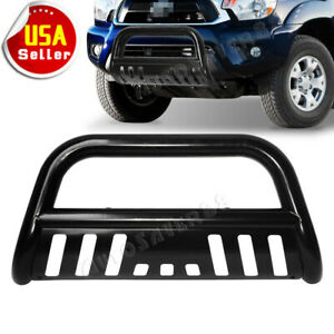 For 2005 2015 Toyota Tacoma Bull Bar Front Bumper Grille Guard Black