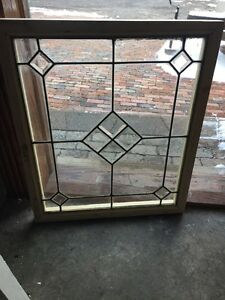 St 1194 Antique Beveled Leaded Glass Window 24 25 X 28 5