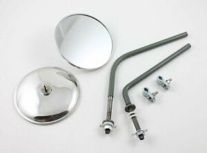 Vw Type 2 Bus Round Side View Mirrors To 1967 Kombi Microbus Deluxe Transporters