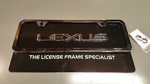 Lexus Mini License Plate Frame Raised Black Background Ls460 Is250 Gs350 Ls430