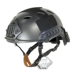 FMA Tactical FAST Swat Protective PJ Black ABS Helmet For Airsoft Paintball T390