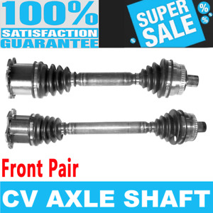 Front 2x Cv Axle Assembly For Audi A4 Quattro L4 2 0l Automatic Transmission