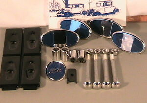 1928 1929 Model A Ford Bumper Hardware Set In Stainless Steel
