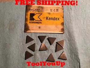 10pcs New Kennametal Tpg 322 K4h Inserts Cnc Tooling Shop Machinist Tools