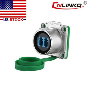 Cnlinko Fiber Optic Industrial Connector Panel Socket Waterproof Single Mode Lc