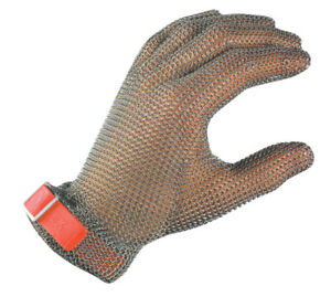 Stainless Steel Chain Mesh Glove Large provides Superior Cut slash Protection