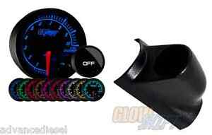 03 07 Ford Super Duty Glowshift Elite 10color Bar Oil Pressure Gauge